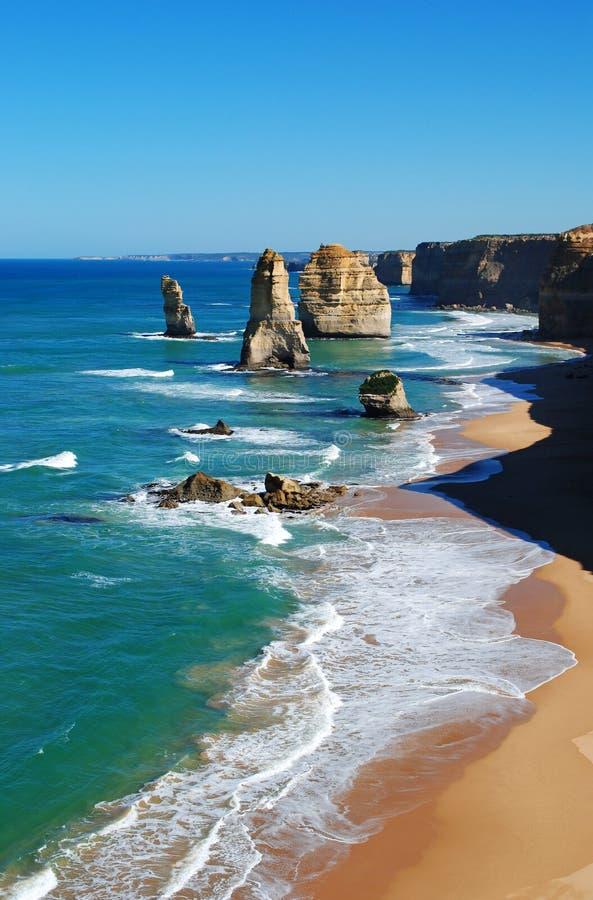 apostołów wielka oceanu droga dwanaście obrazy stock