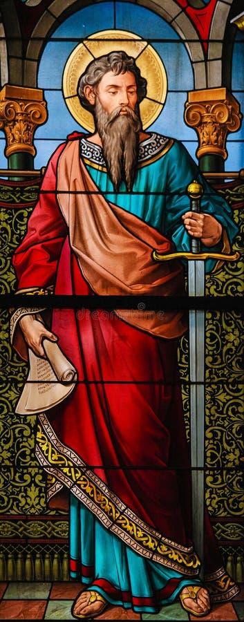 apostoł błogosławił Christchurch katedralnego sakrament szklanego nowego Paul święty plamiący Zealand zdjęcia stock