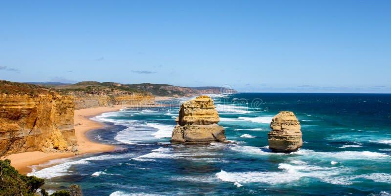 12 apostoła Wiktoria australijczyka cudu obrazy royalty free