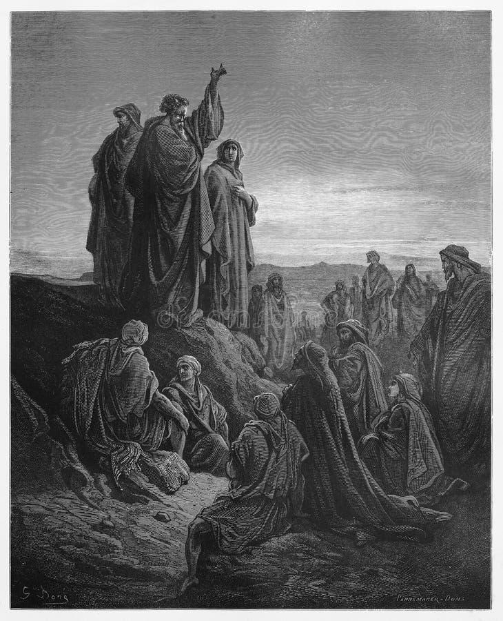 Apostołowie Wygłaszają kazanie ewangelię zdjęcie royalty free