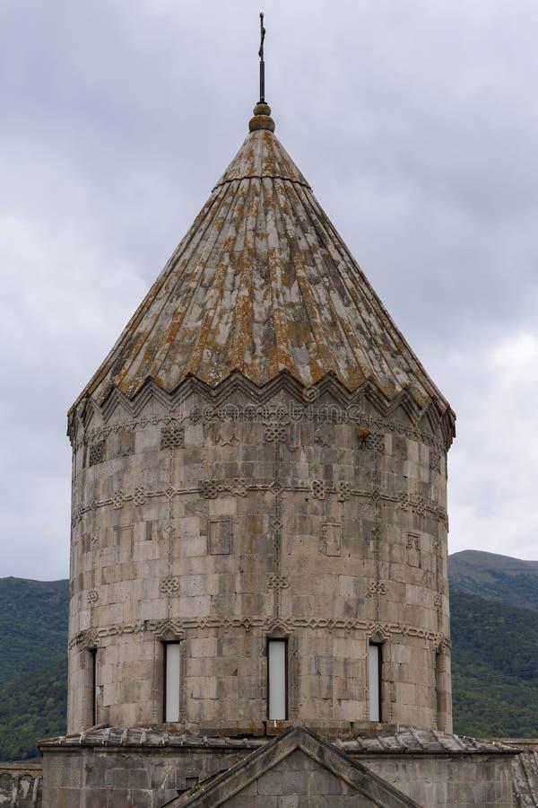 apostolic armenierkyrka Berglandskap, kloster royaltyfria foton