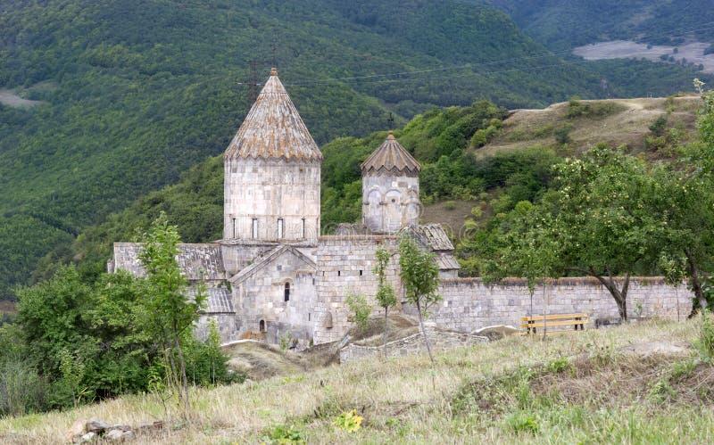 apostolic armenierkyrka Berglandskap, kloster arkivfoto