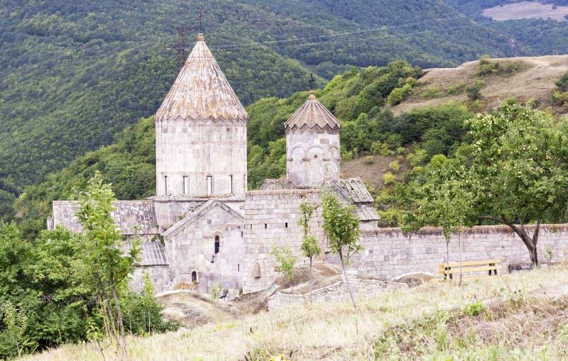 apostolic armenierkyrka Berglandskap, kloster royaltyfri fotografi