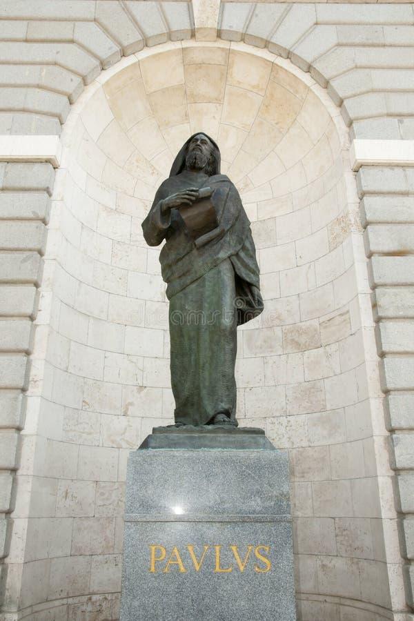 Apostolo Paul Statue fotografie stock