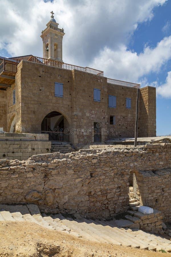 Apostolos Andreas Monastery - Karpasia - das Türkische Zypern stockfotos