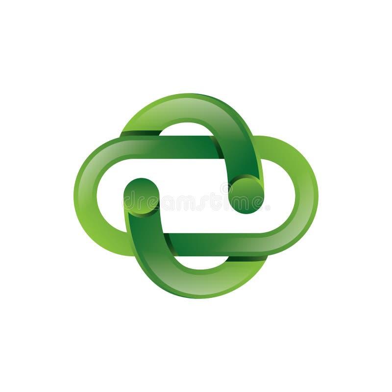 Apotek grön 3D Logo Vector stock illustrationer