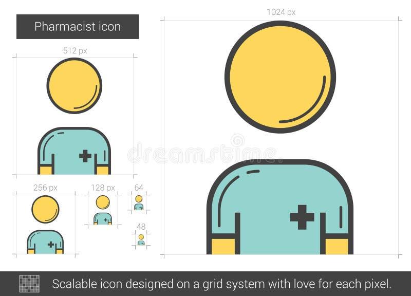Apotekarelinje symbol vektor illustrationer