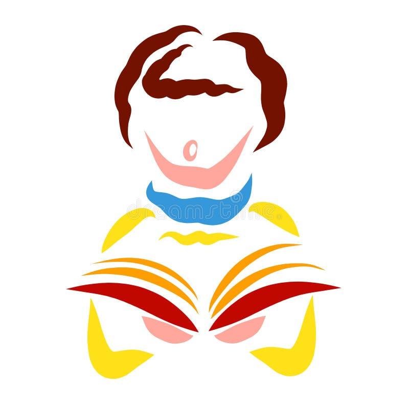 Apoteozowanie bóg, śpiewa w kościół, kolorowy wzór ilustracja wektor