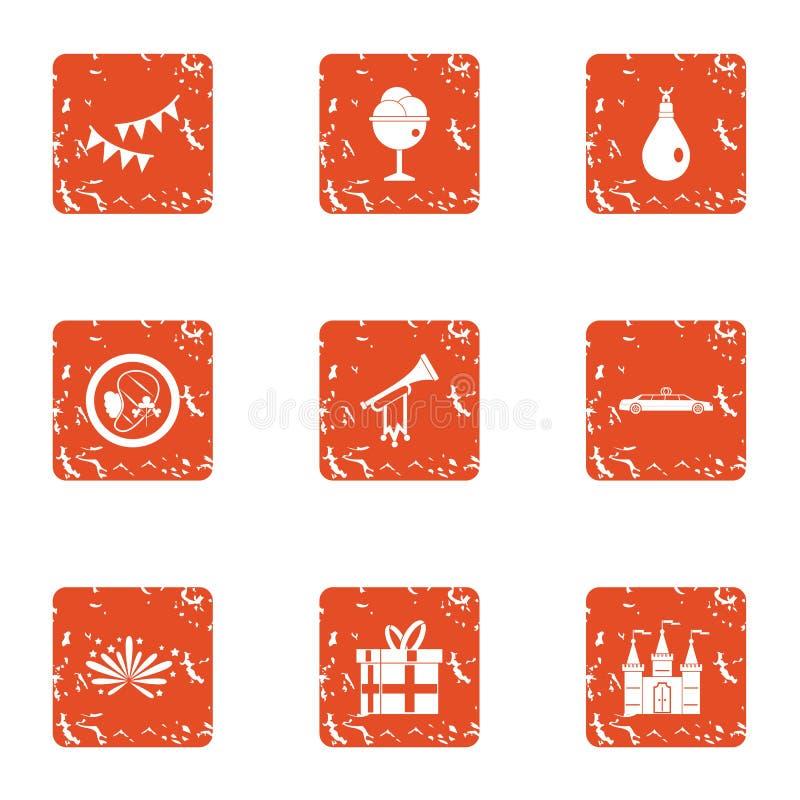 Apoteozowanie ikony ustawiać, grunge styl ilustracji