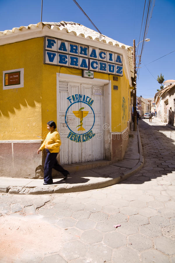 Apotheek, Bolivië stock foto