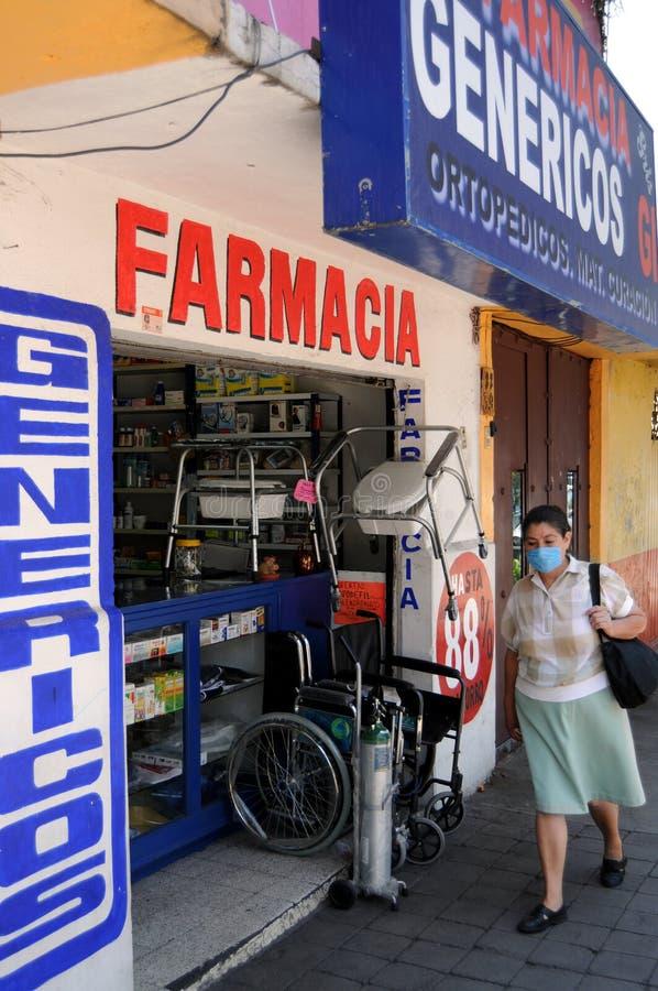 Apotheek in Mexico-City stock fotografie