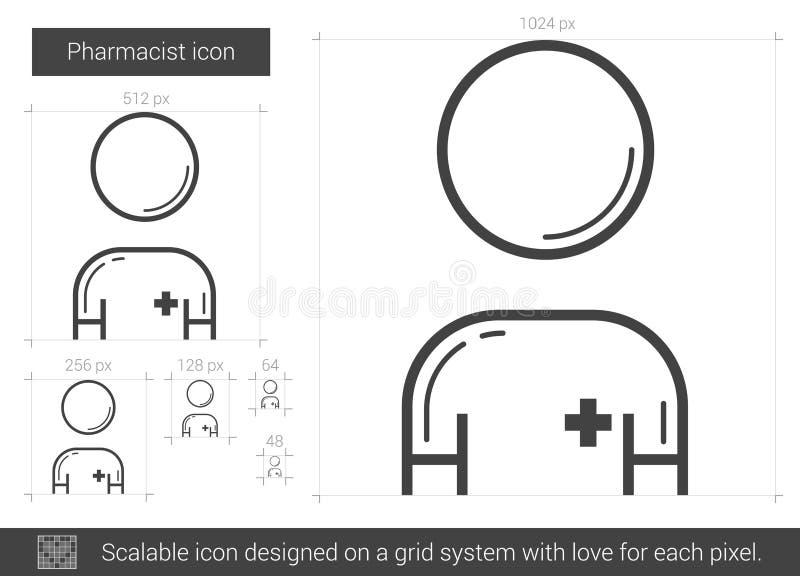 Apothekerlinie Ikone vektor abbildung