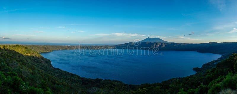 Apoyo湖/拉古纳de Apoyo在尼加拉瓜 免版税库存照片