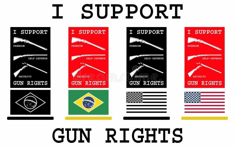 Apoyo las derechas del arma ilustración del vector