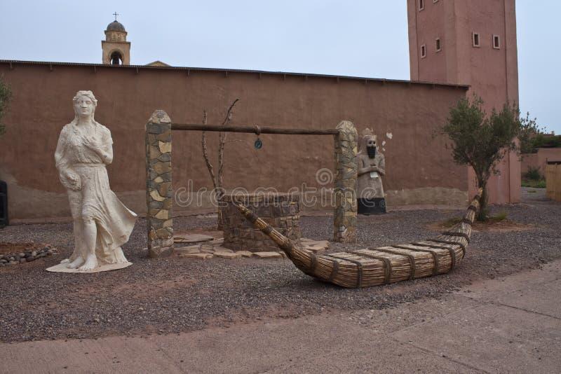 Apoyos de la etapa en Ouarzazate imagen de archivo libre de regalías