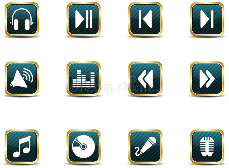 app图标音乐样式 库存例证