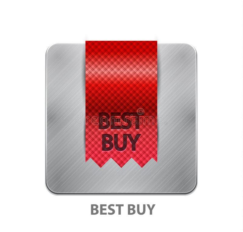 app按钮移动红色丝带 库存例证