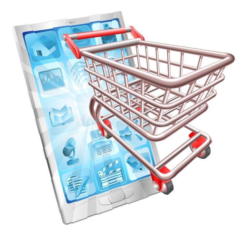 app概念电话购物 皇族释放例证
