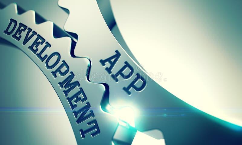 App ανάπτυξη - μηχανισμός των λαμπρών εργαλείων μετάλλων τρισδιάστατος ελεύθερη απεικόνιση δικαιώματος