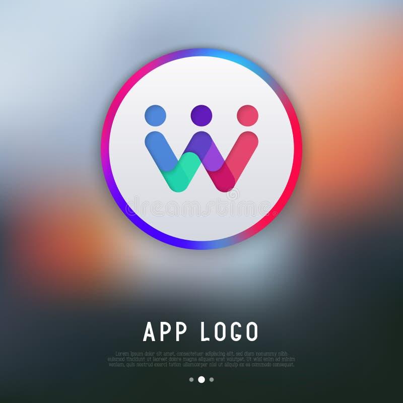 App λογότυπο για τον αγγελιοφόρο ή τη συνομιλία απεικόνιση αποθεμάτων
