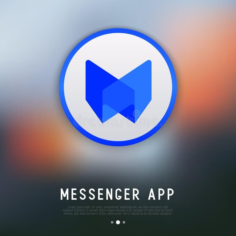 App λογότυπο για τον αγγελιοφόρο ή τη συνομιλία ελεύθερη απεικόνιση δικαιώματος
