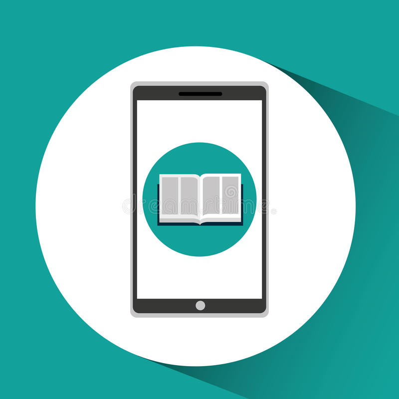 app σε απευθείας σύνδεση ε-εκμάθηση εκπαίδευσης ελεύθερη απεικόνιση δικαιώματος