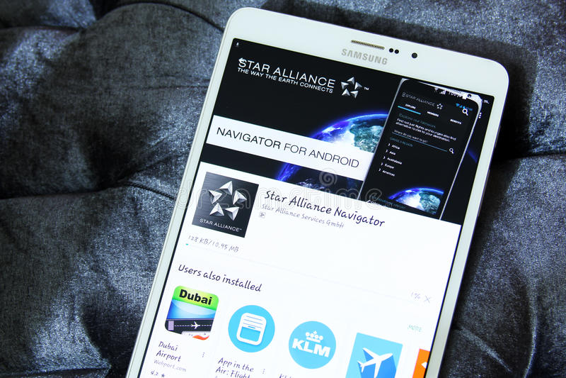 App συμμαχίας αστεριών λογότυπο στοκ φωτογραφία