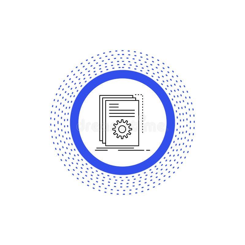 App, χτίζει, υπεύθυνος για την ανάπτυξη, πρόγραμμα, εικονίδιο γραμμών χειρογράφων : ελεύθερη απεικόνιση δικαιώματος