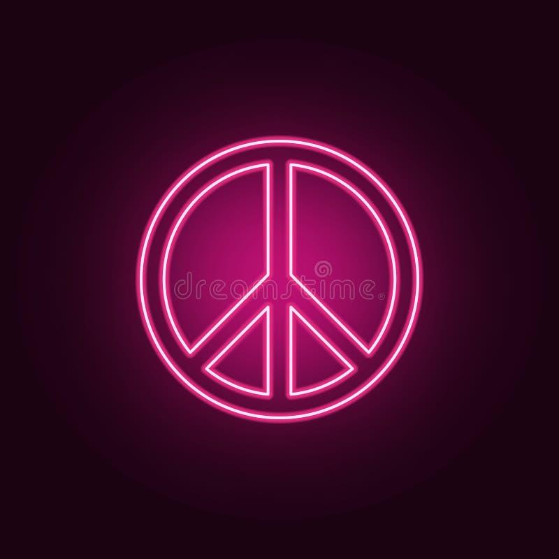 εικονίδιο σημαδιών ειρήνης r r απεικόνιση αποθεμάτων