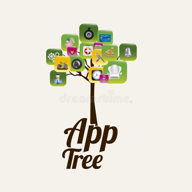 App boom royalty-vrije illustratie