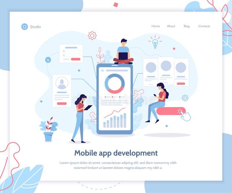 App de banner van het ontwikkelingsweb vector illustratie