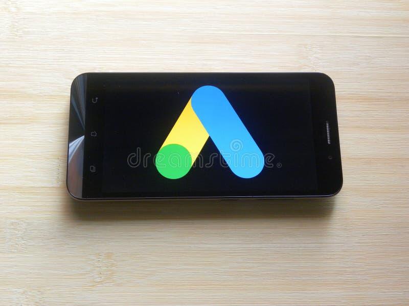 App de los anuncios de Google fotografía de archivo