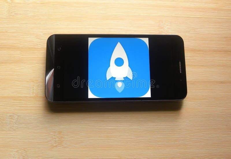 App del aumentador de presión de la velocidad imagenes de archivo