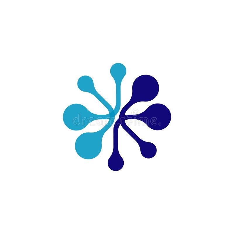 app del modello dell'icona di vettore di logo della molecola illustrazione vettoriale