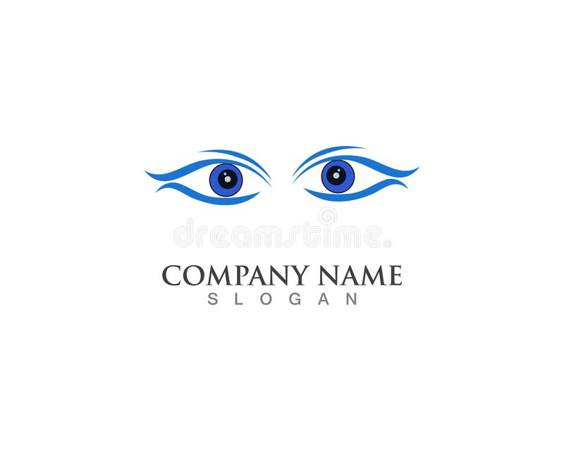 App delle icone di vettore del modello di simbolo di logo di cura dell'occhio royalty illustrazione gratis