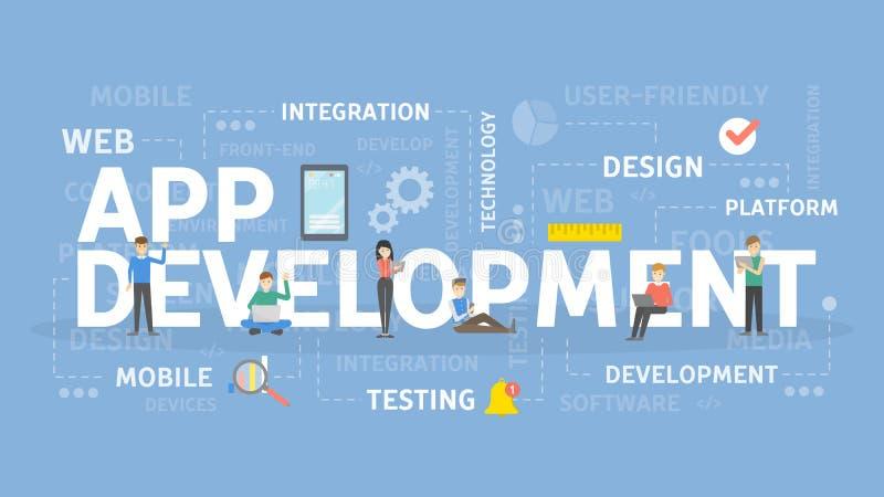 App development concept. stock illustration
