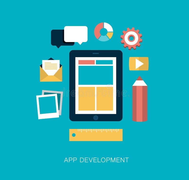 App development concept illustration stock illustration