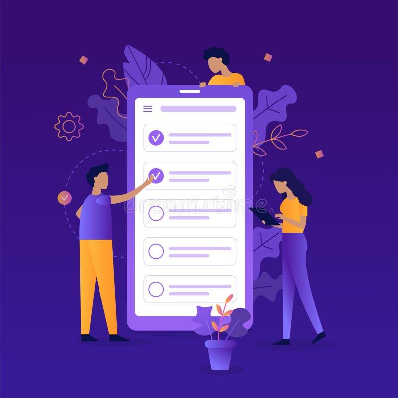 App do gerente de tarefa ilustração stock