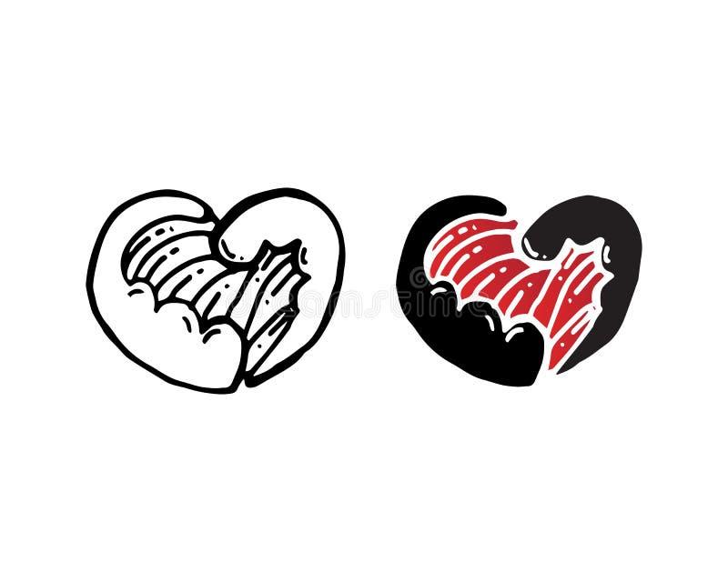 App dos ?cones do molde do vetor dos s?mbolos do logotipo e do dia de s?o valentim do amor ilustração royalty free