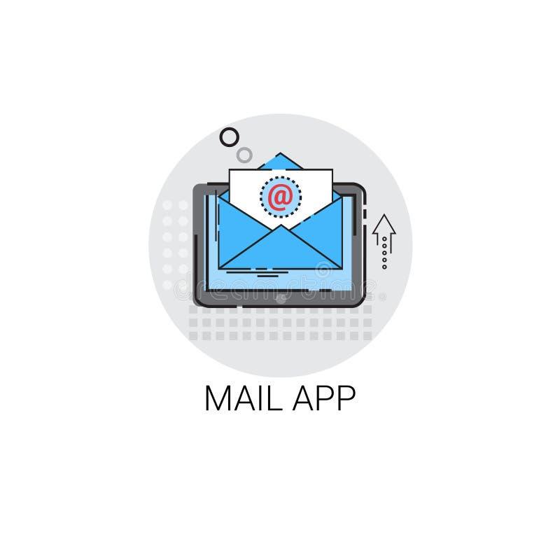 App het Envelope-mail Inbox Bericht verzendt Postpictogram stock illustratie