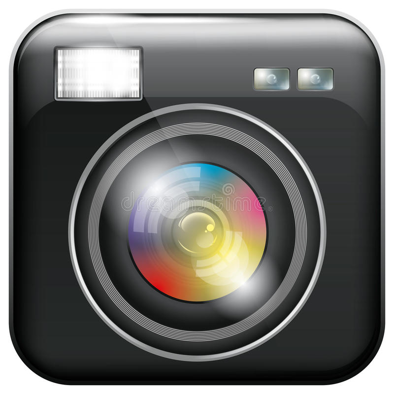 Download App Icon With Camera Lens And Flash Light Stock Vector - Image: 33550849