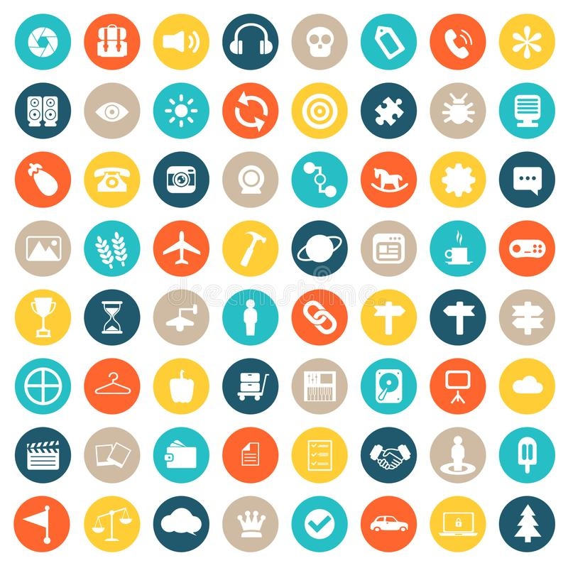 App icon set. Icons for websites and mobile applications. Flat vector vector illustration