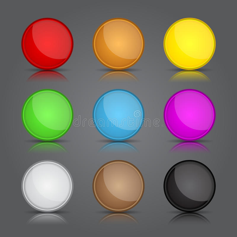 App icons background set. Glossy web button icons. stock illustration
