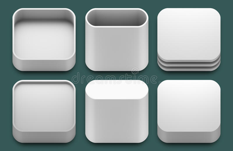 App icons for iphone and ipad applications. stock illustration