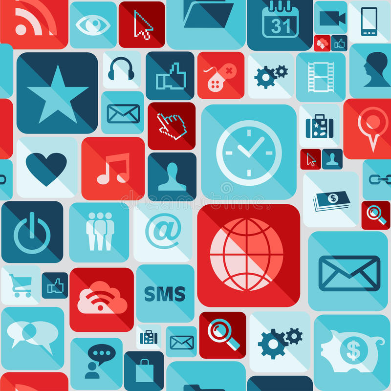 App icons seamless pattern stock images