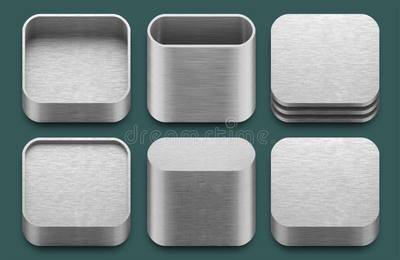 APP-Ikonen für iphone und ipad Anwendungen. vektor abbildung