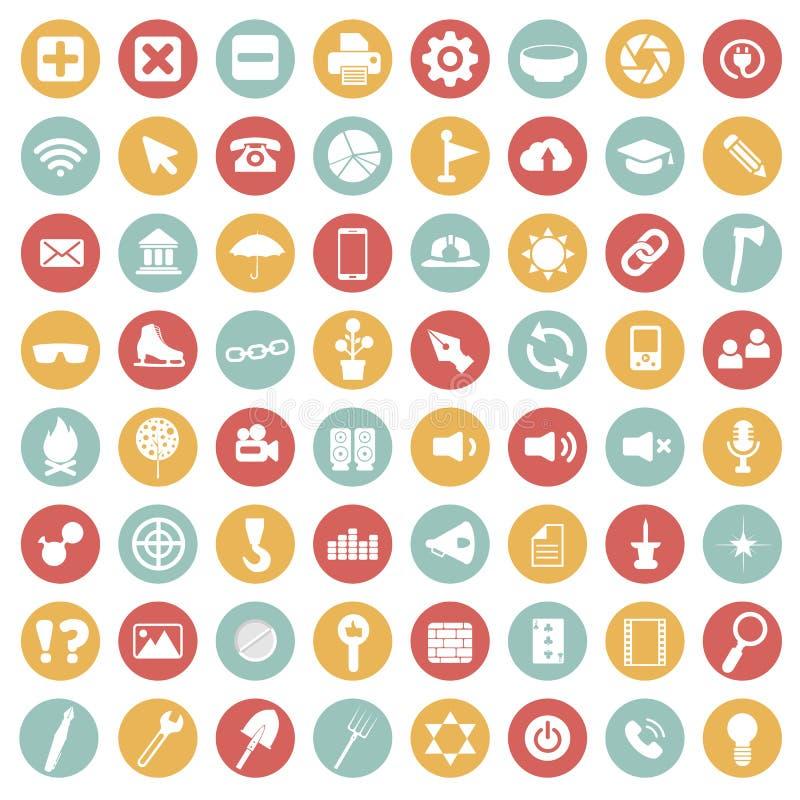 APP-Ikonen-Satz Ikonen für Website und bewegliche Anwendungen Flacher Vektor lizenzfreie abbildung