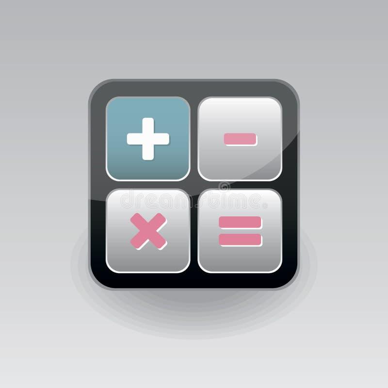 APP-Ikonentaschenrechner stock abbildung