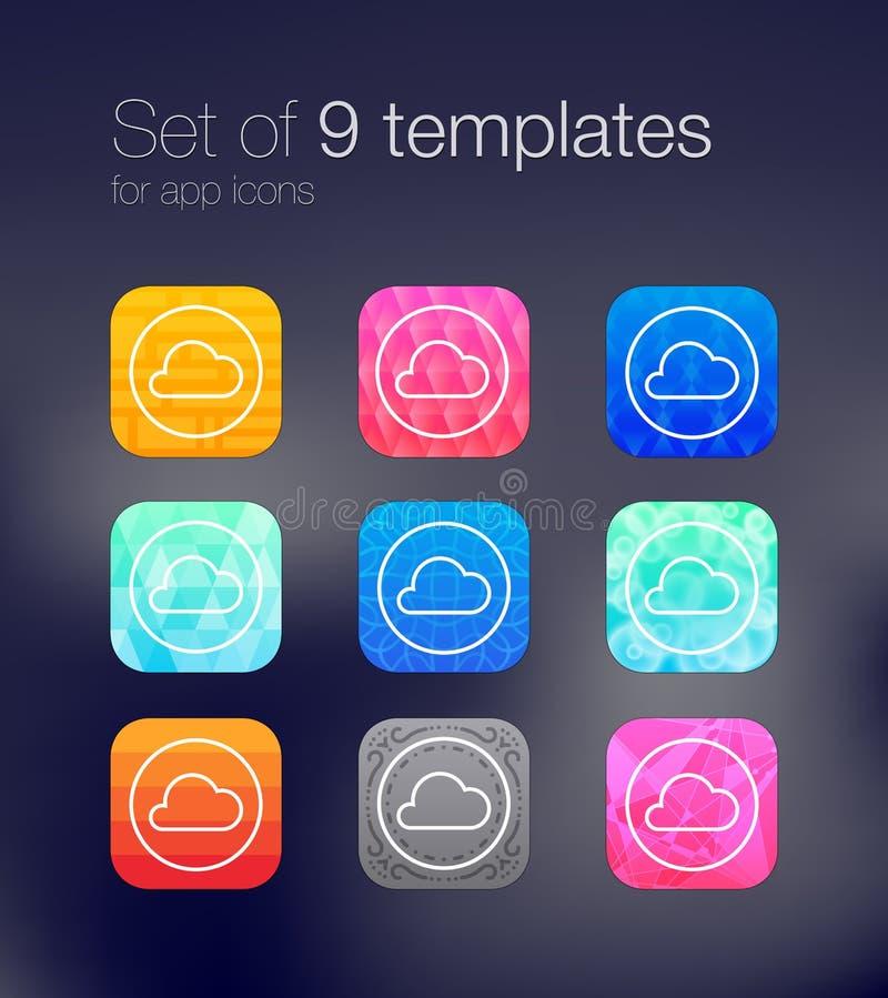 App ikony tła fotografia stock