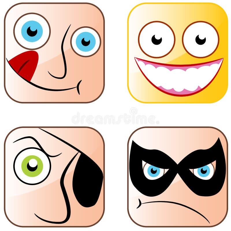 App ikony twarze ilustracji